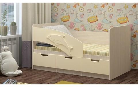 Детская кровать Дельфин-6 МДФ, 80х180
