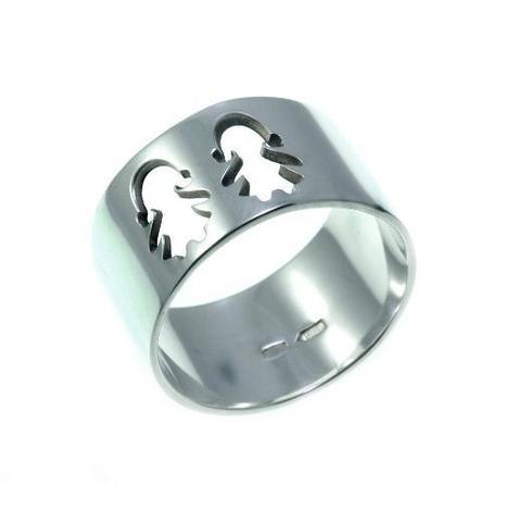 Серебряное широкое кольцо 1-2