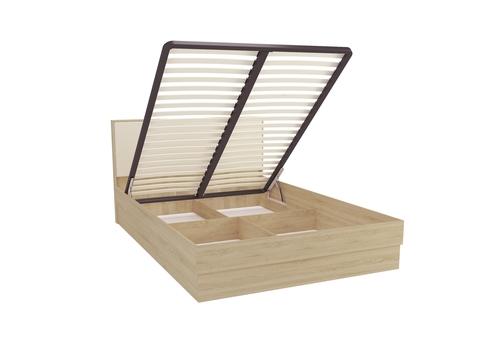 Кровать двуспальная Сопрано 160х200 с подъемным механизмом Браво Мебель дуб сонома