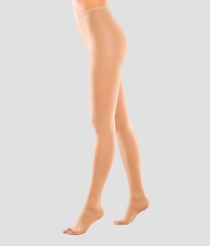 Компрессионные колготы для женщин плотные, с открытым носком III класс компрессии