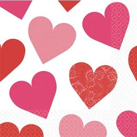 Салфетки малые Ключ к сердцу, 16 штук