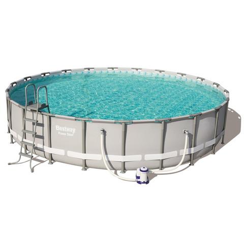 Каркасный бассейн Bestway 56675 (610х122) с картриджным фильтром, лестницей и тентом / 18486