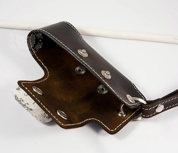 KK407-2 Мужская кожаная ключница ручной работы с ремешком фото 03