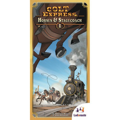 Colt Express. Horses & Stagecoach