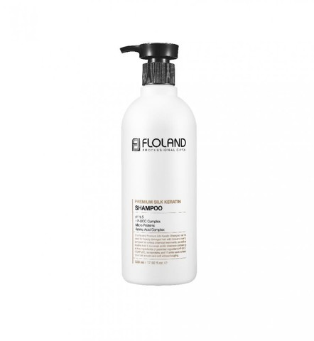 Floland Premium Silk Keratin Shampoo Восстанавливающий шампунь с кератином