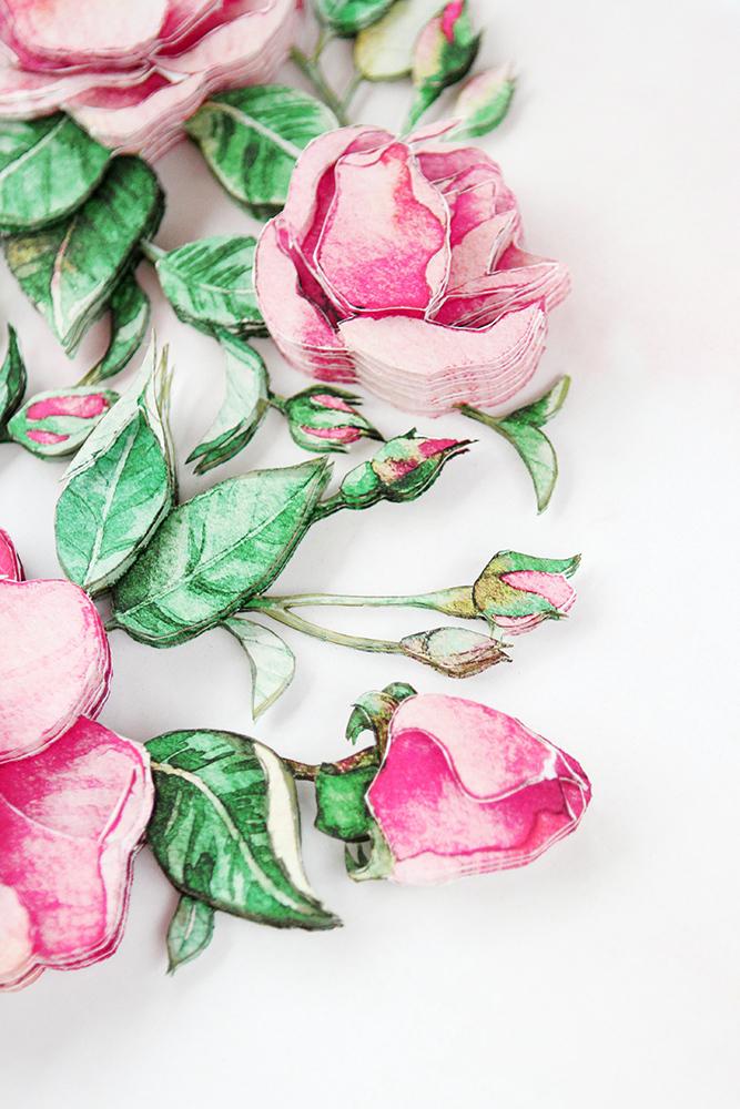 Папертоль Цветочное сердце - готовая работа, детали сюжета