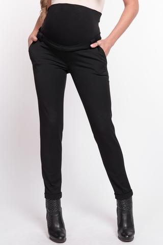 Утепленные брюки для беременных 11029 чёрный