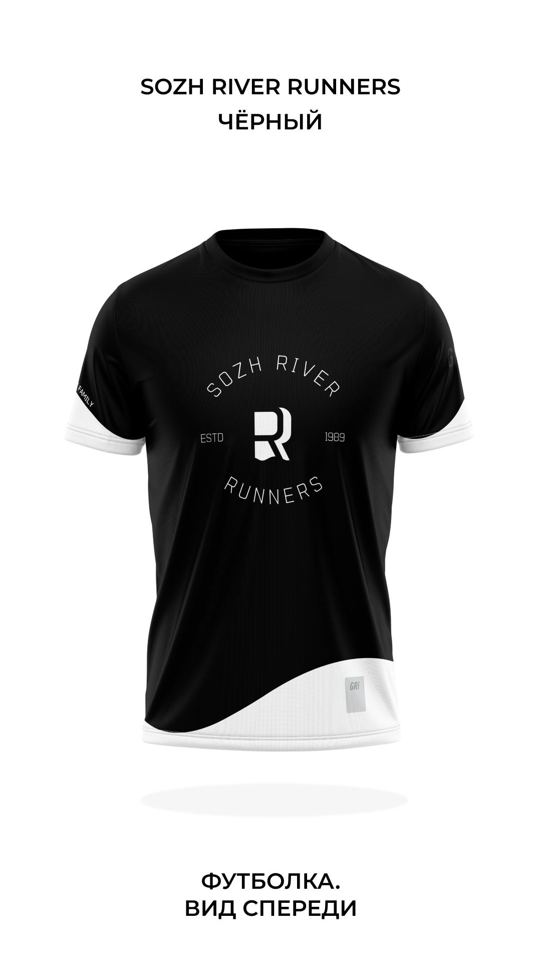 Футболка клубная GRi SRR, черная, мужская