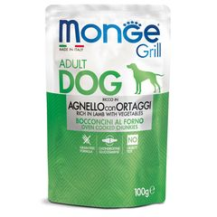 Паучи для собак Monge Dog Grill ягненок с овощами