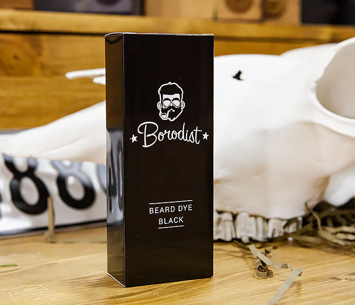 CARE118-1 Черная краска для бороды от Borodist (Black)