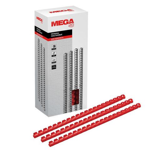 Пружины для переплета пластиковые Promega office 12 мм красные (100 штук в упаковке)