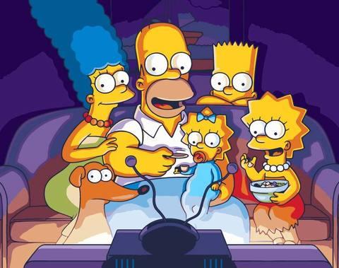 Картина по номерам на холсте The Simpsons, 40см*50см
