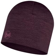 Тонкая шерстяная шапка Midweight Merino Wool Hat Solid Deep Purple