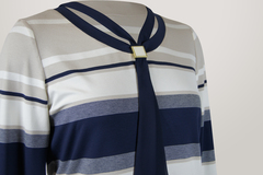 Блузка Gracjia 1323 галстук полоска