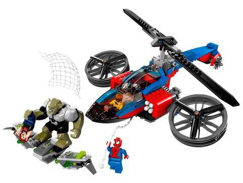 LEGO Super Heroes: Спасательная операция на вертолете Человека-Паука 76016 — Spider-Helicopter Rescue — Лего Супергерои Марвел