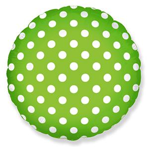 Фольгированный шар Горошек Зеленый 18
