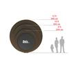 Батут Unix 8 ft Black&Brown outside - 2,44 м