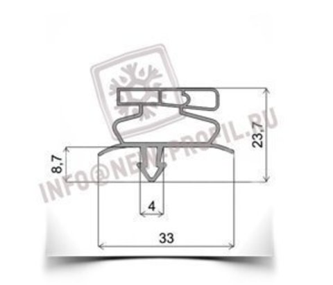 Уплотнитель для Преп-стола для пиццы True TPP-93-HC 645*605 мм по пазу(019)