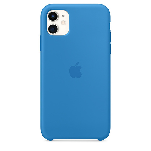 Чехол IP11 Silicone Case Surf Blue