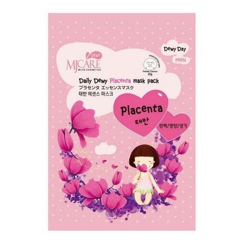 Маска тканевая с плацентой MJ Care Daily Dewy Placenta mask pack