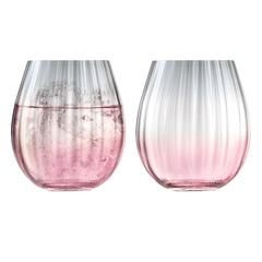 Набор из 2 тумблеров Dusk 425 мл розовый-серый, фото 1