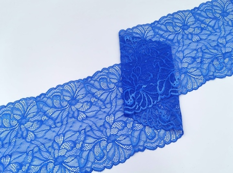 Эластичное кружево, 18 см, ярко-синее, (Арт: EK-2529), м
