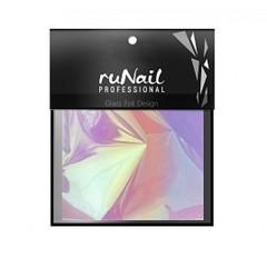 RuNail с эффектом битое стекло 4х100 см цвет радужный арт 3150