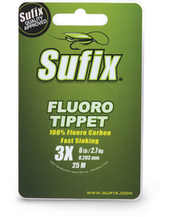 Леска SUFIX Fluoro Tippet прозрачная 25м 0.138мм 1,4кг