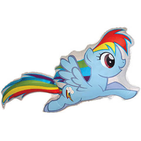 Фигура фольга My little Pony голубая