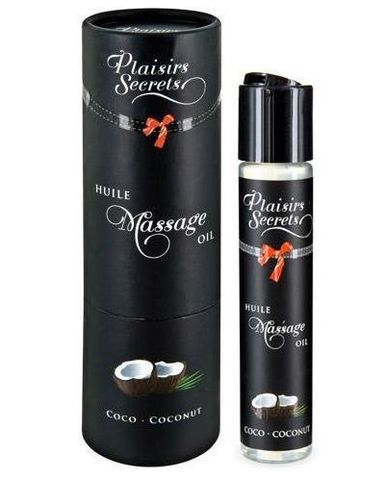 Массажное масло с ароматом кокоса Huile de Massage Gourmande Coco - 59 мл.