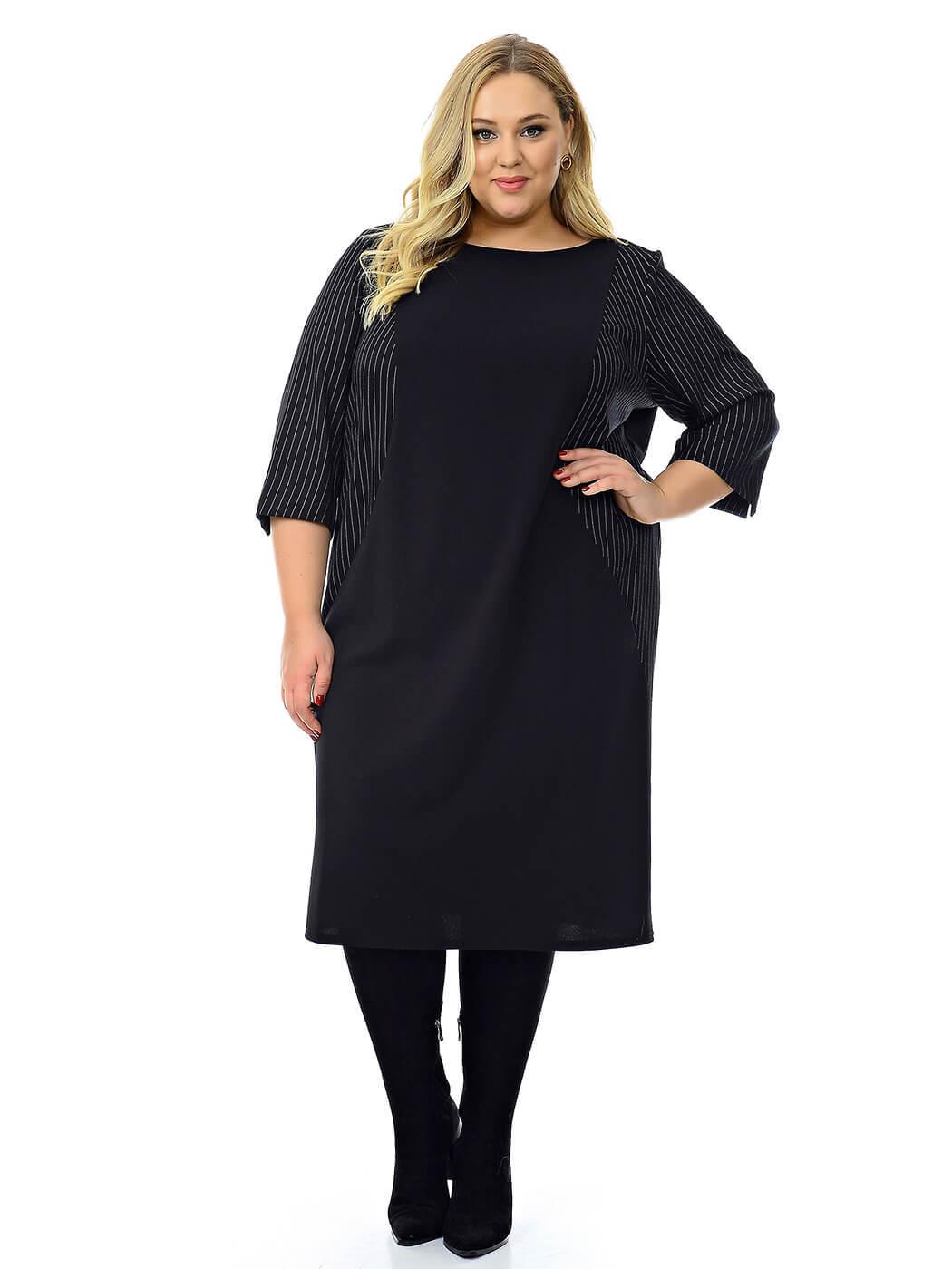 Деловое черное платье 76 размера
