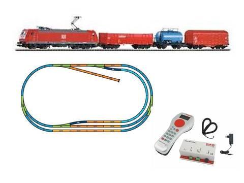 %Цифровой НАБОР% Электровоз BR 185 + 3 грузовых вагона, DB AG + путь ABCE