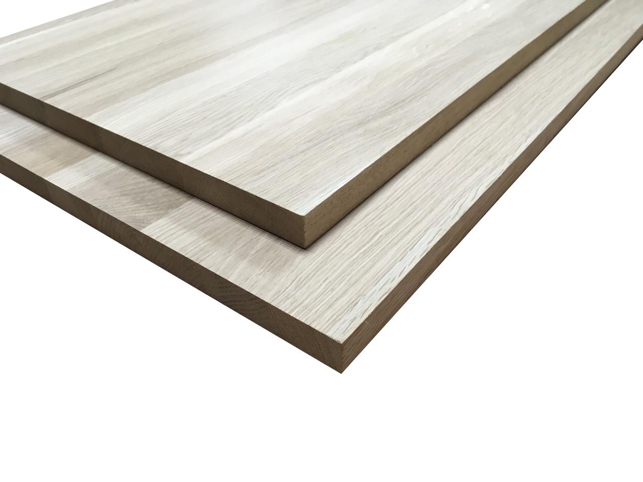 Мебельный щит из дуба цельноламельный 20х600х1700 мм ( широкая ламель )