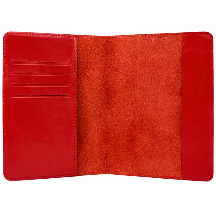 Обложка на паспорт «Waves». Цвет красный