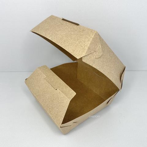 Коробка для бургера 115х115х85 мм крафт