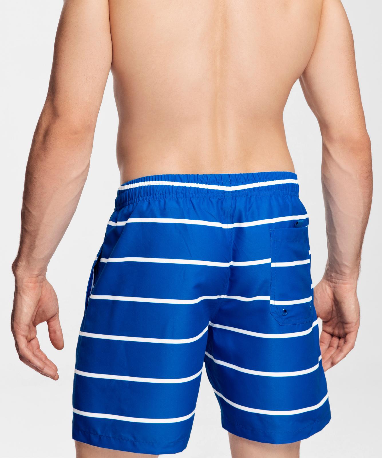 Пляжные шорты мужские Atlantic, 1 шт. в уп., полиэстер, голубые, KMB-191