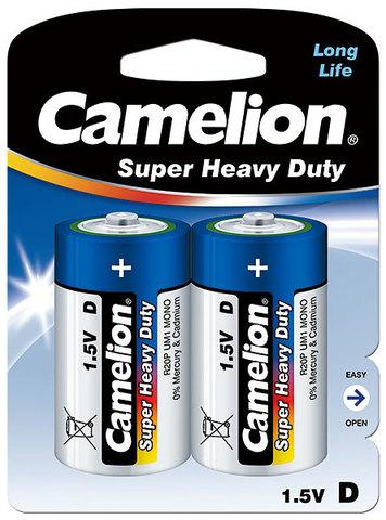Батарейки Camelion Blue R20, D (2/12) BL