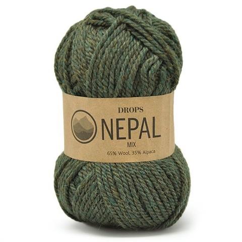 Пряжа Drops Nepal 8906 темно-зеленый