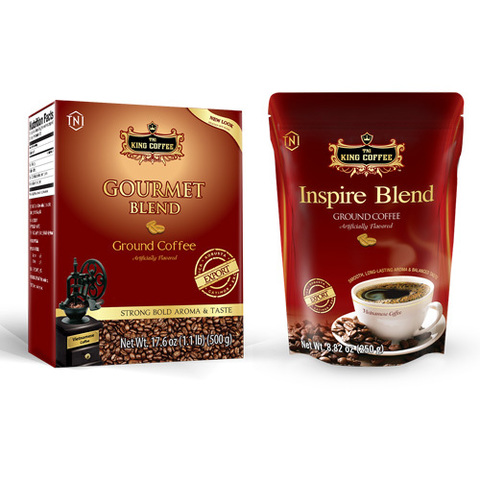 Вьетнамский молотый кофе серии Blend от King Coffee, 250 гр.
