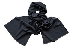 Шарф из шелка и шерсти черный 01361