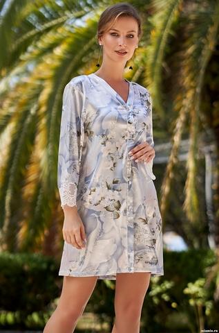 Рубашка халат на пуговицах  Mia-Amore  NOVELLA  НОВЕЛЛА 3607