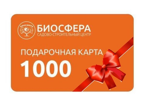 Подарочная карта 1000 рублей