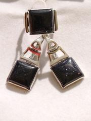 1401 (кольцо + серьги из серебра)