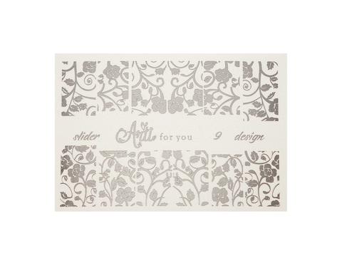 Фольга для дизайна ногтей цвет серебро 9 купить за 120руб