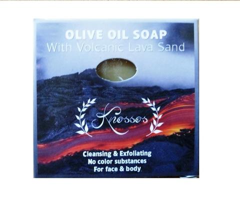 Оливковое мыло с вулканической лавой Knossos 100 гр в коробке