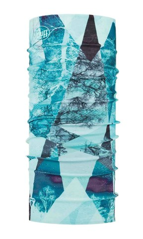 Тонкая зимняя бандана-трансформер Buff Thermonet Mist Aqua фото 1