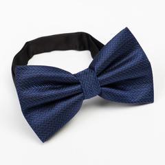Галстук- бабочка мужская, синяя, 12 х 6 см, п/э