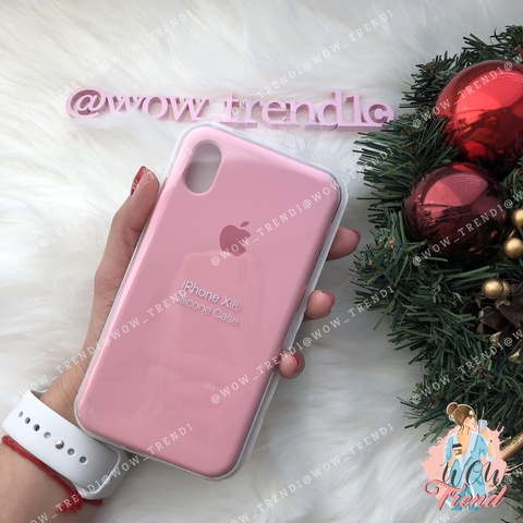 Чехол iPhone XR Silicone Case /light pink/ розовый 1:1