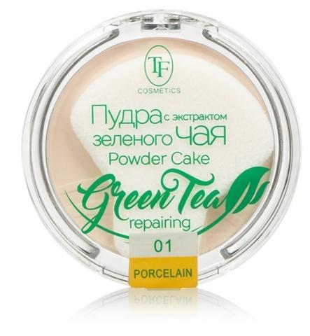 TF Пудра компактная с экстрактом зеленого чая тон 01 фарфоровый ТР-16