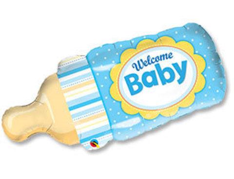Фольгированный шар Бутылочка для мальчика
